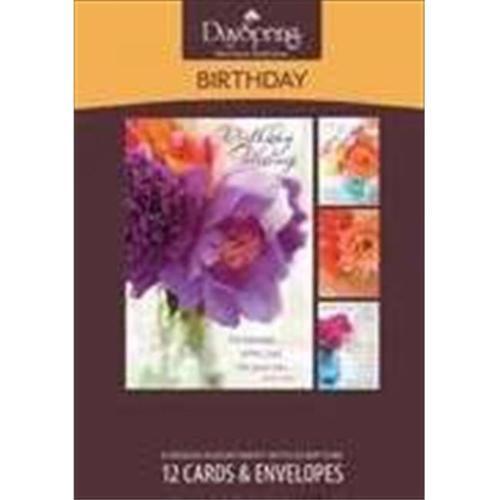 "DaySpring ""Flowers of Joy Inspirational Birthday Inspirational"" Boxed Card - 37110"