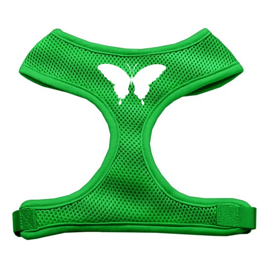 Butterfly Design Soft Mesh Harnesses Emerald Green Large
