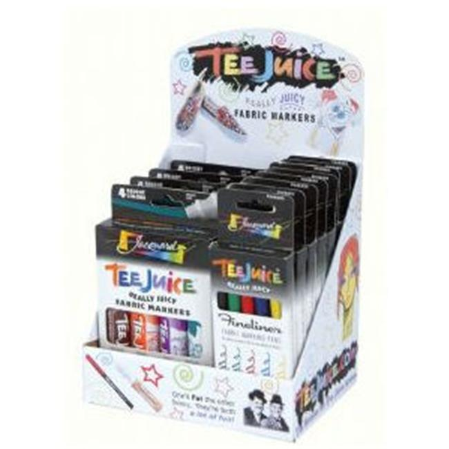 Alvin PENDF18D Tee Juice Fabric Marker Sets Display