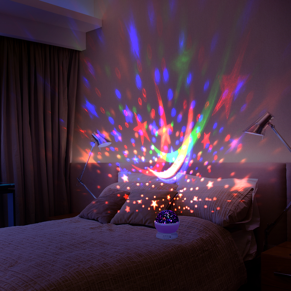 Redcolourful romantic led starry night sky projector lamp kids gift star light cosmos masterpink walmart com