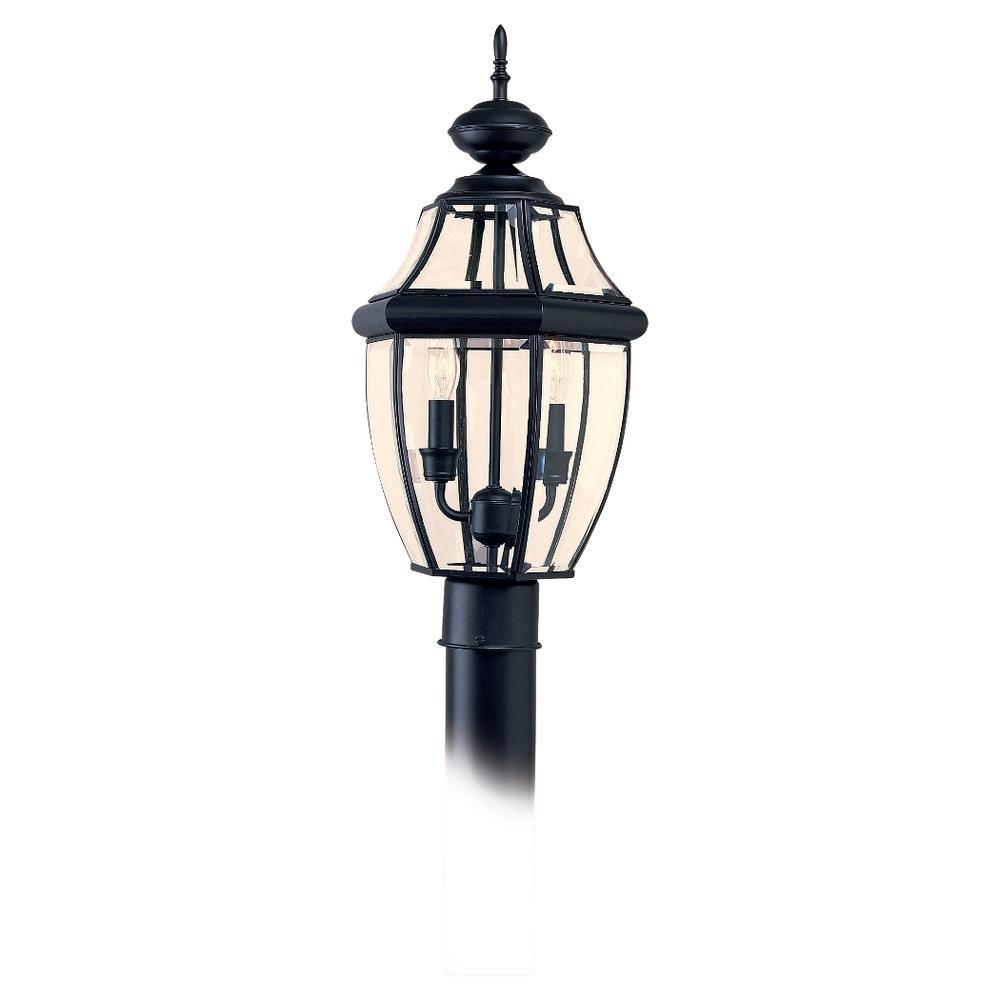 Sea Gull Lighting Lancaster 2-light Black Outdoor Post Lantern by Overstock