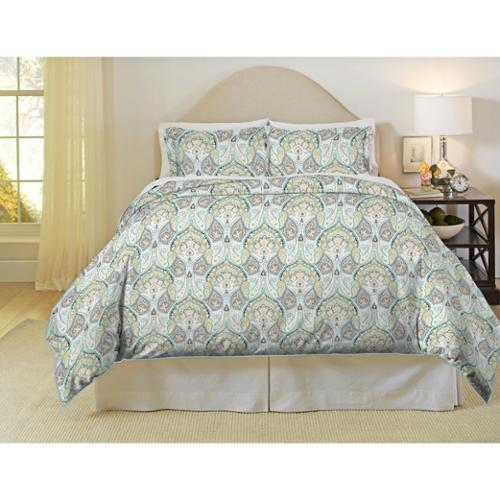 Pointehaven Cypress 200 Thread Count Printed Percale 3-piece Duvet Set Twin / Twin XL