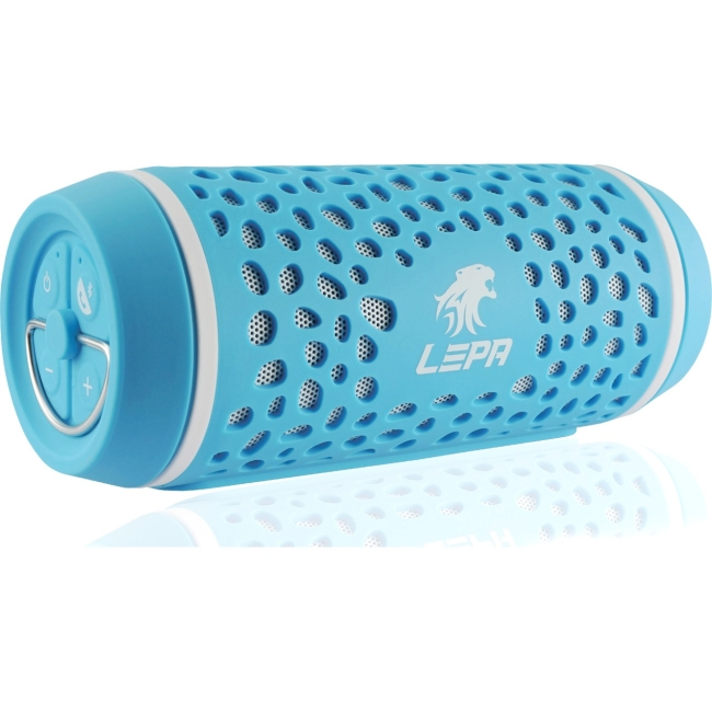 LEPA BTS02 Portable Water-Resistant Bluetooth Speaker - Blue