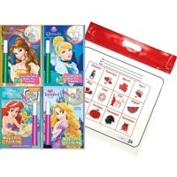 DISNEY'S Princess Invisible Ink Magic Pen Painting Activity Books, with ZIPPER BAG. Includes: Cinderella, Little Mermaid, Tangled and Belle