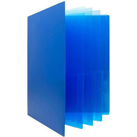 Heavy Duty Anti Jam (JAM Paper Heavy Duty Plastic Multi Pocket Folders, 10 Pocket, Blue, Sold Individually)