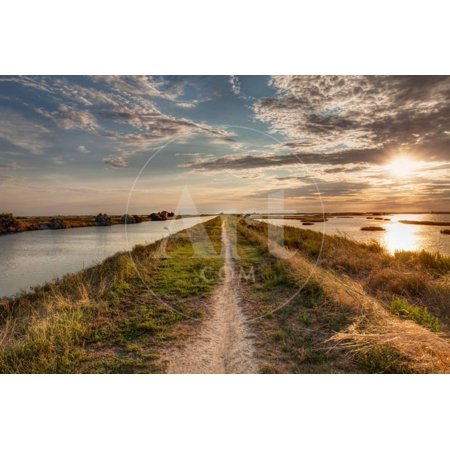 Natural Reserve Valli Di Comacchio in Italy Print Wall Art By