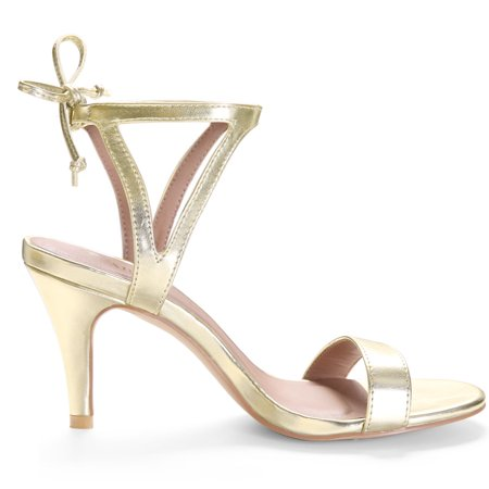 Allegra K Dame Extensible Open Toe Sandales Stiletto Attache Cheville - image 5 de 7