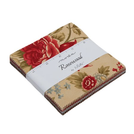 Moda 3 Sisters Rosewood Rosewood Charm Pack 42 Five Inch Squares 3 Sisters Moda