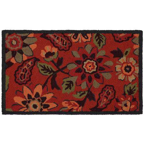 "Mohawk Frannie Jacobean Woven Kitchen Rug, 1'6"" X 2'6"