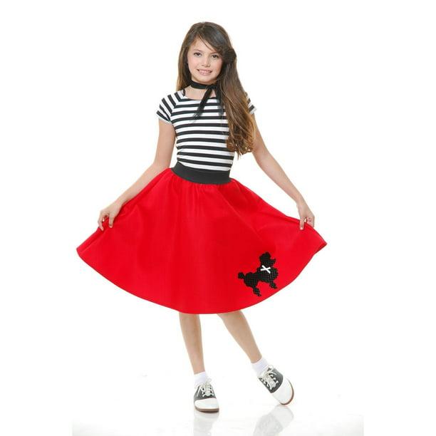 Charades Womens Poodle Skirt Black X-Large