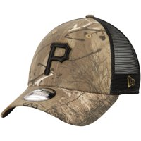 Pittsburgh Pirates New Era Realtree Trucker 9FORTY Adjustable Snapback Hat - Camo/Black - OSFA
