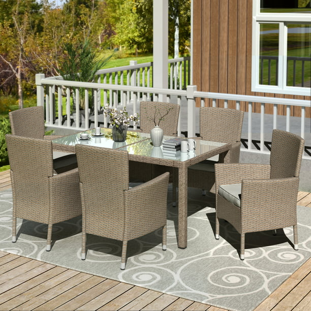 Patio Dining Sets Clearance 7 Piece, Patio Furniture Dining Sets Clearance