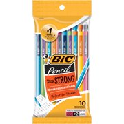 (2 Pack) BIC Xtra-Strong Mechanical Pencil, Colorful Barrel, Thick Point (0.9mm), 10 Count