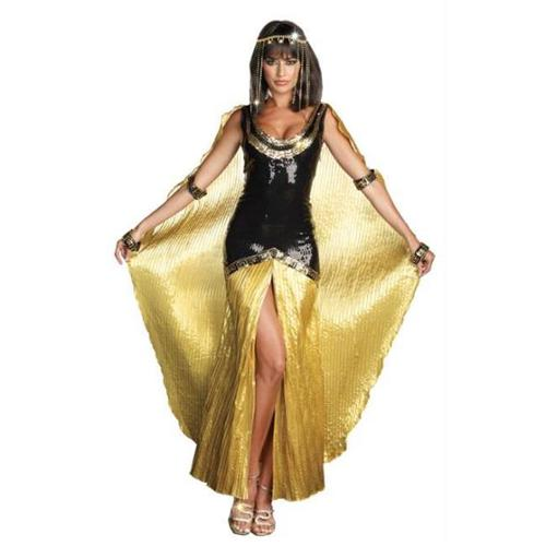 Sexy Cleopatra Egyptian Queen Sequin Dress Costume Adult