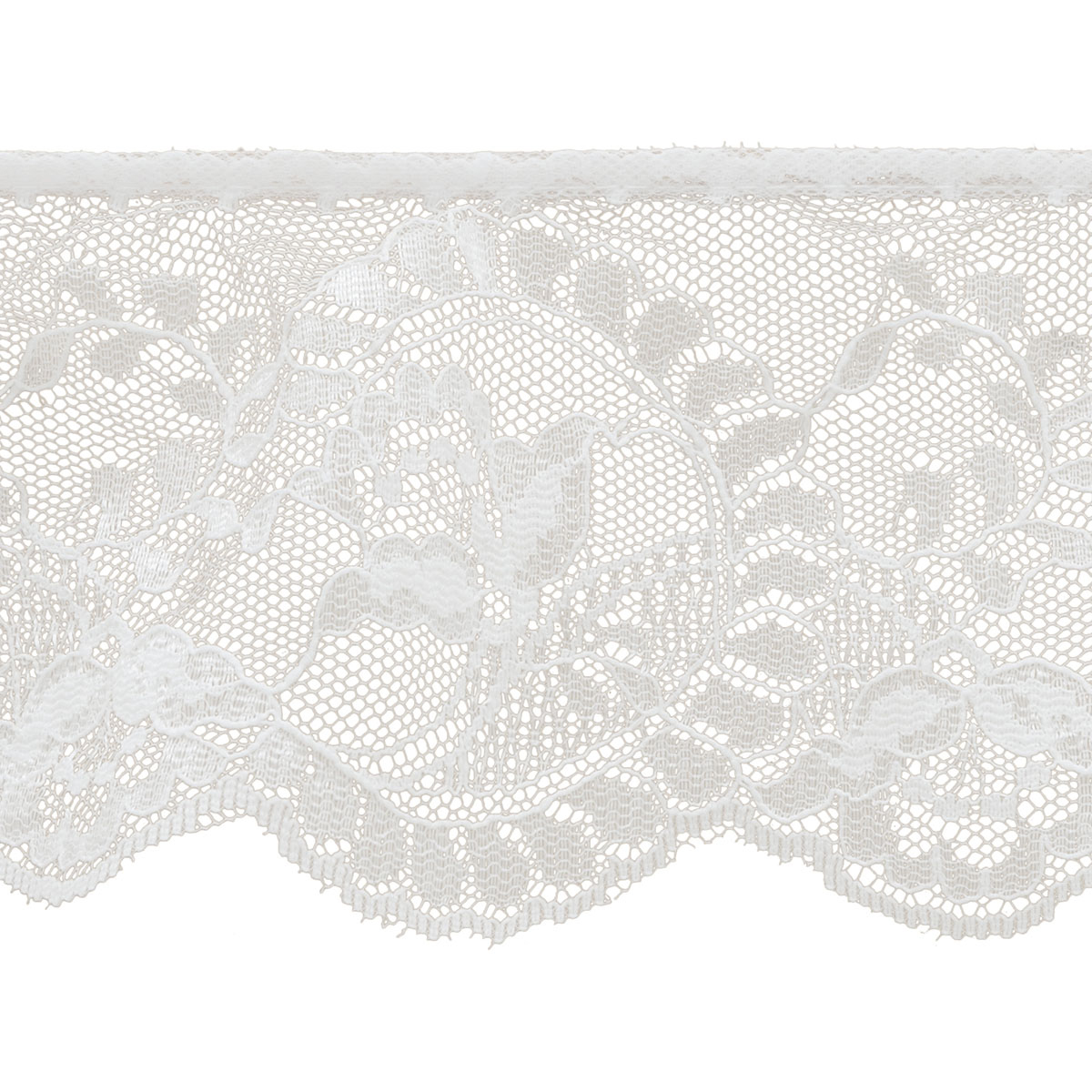 "Flower Cameo Lace 3 - 7/8"" X 12yd - White"