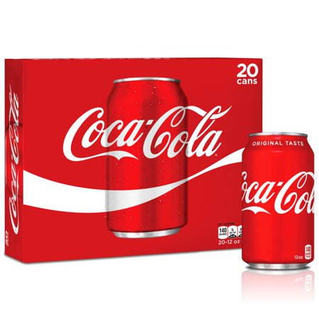 Coca-Cola Soda Soft Drink, 12 fl oz, 20 Pack (Soda Package)