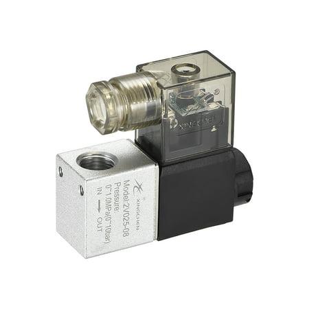 2V025-08 Air NC Single Electrical Control Solenoid Valve DC 24V 2 Way 2 Position 1/4