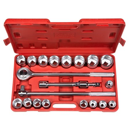 3 4 Inch Drive Socket Set - TEKTON 3/4 Inch Drive Shallow 6-Point Socket Set, 21-Piece (19-50 mm) | 1100