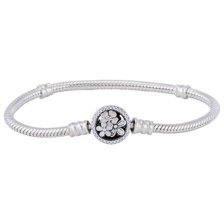 Pandora Ladies Pandora Moments Flower Clasp Bracelet Size 16 Flower Power Bracelet