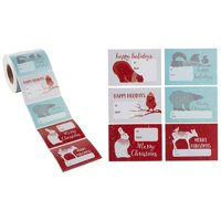 Gift Label Stickers - 504-Count Christmas Gift Tag Stickers - to and from, Peel and Stick Self Adhesive Present Labels for Holiday Gift Box, Wrapping Paper, Gift Bag, 6 Animal Designs, 2 x 3 Inches