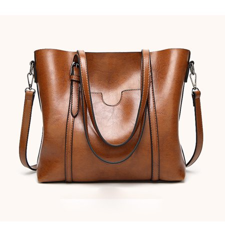 Fashion Women Crossbody Bag Shoulder Bag Tote Bucket Bag Messenger Bag Brown