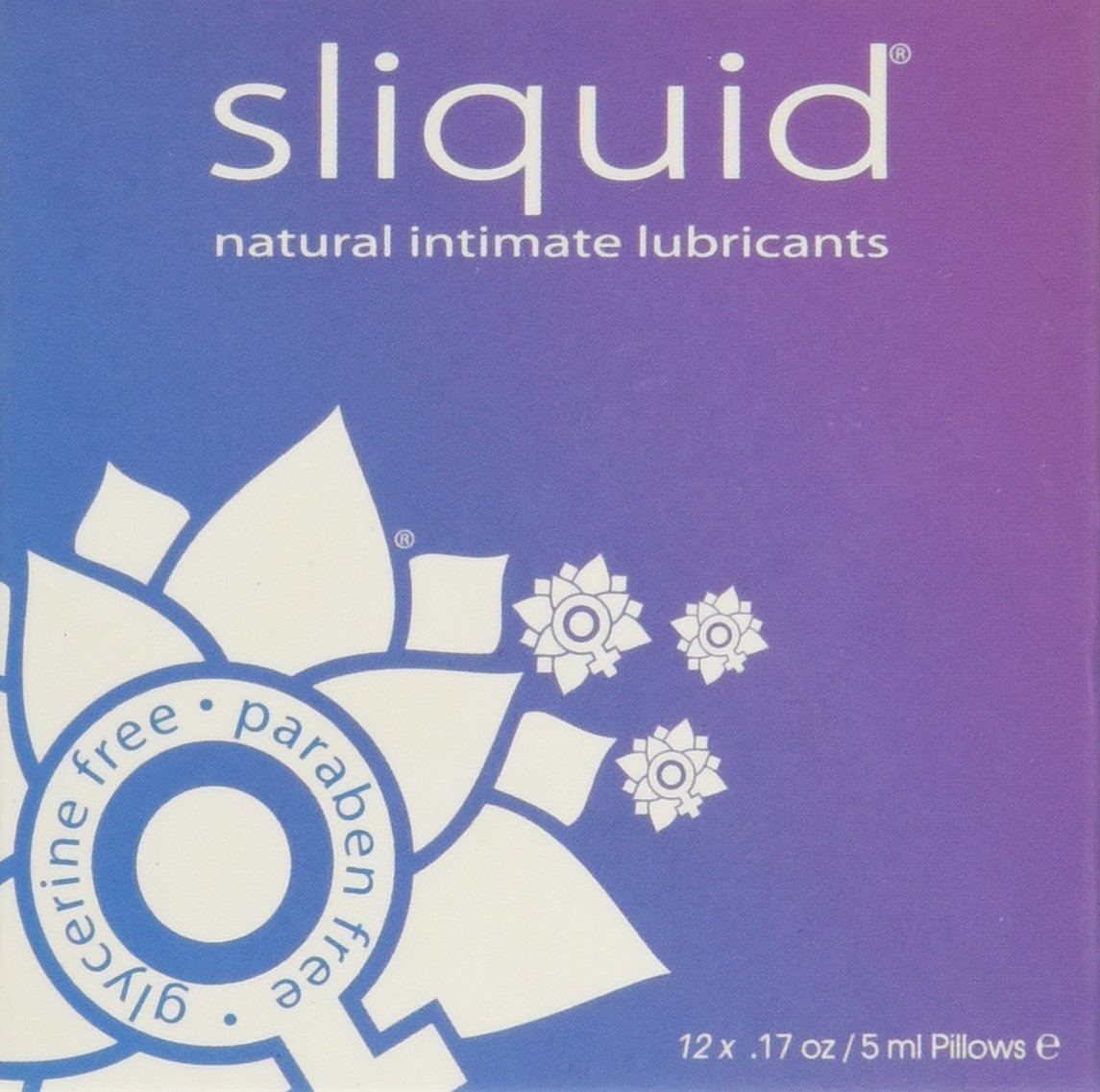 Naturals Lube Sampler, Free of dea, gluten and glycerine By Sliquid Ship from US