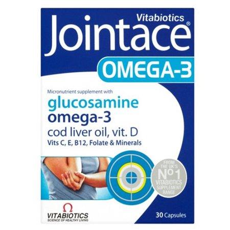 Jointace Vitabiotics Omega 3 Cod Liver Oil Glucosamine 30 Soft Gel Capsules - Oil 30 Capsules