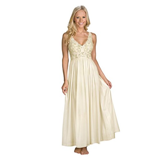 Shadowline Womens Plus-Size Silhouette 53 Inch Sleeveless Long Gown ...