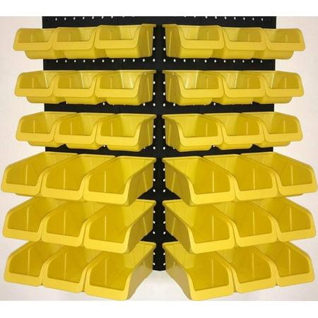 WallPeg 36 Pegboard Bins Part Bin Kit Hooks to Peg Board Panels Workbench Organizer Larger Size Bins