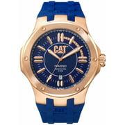 Men's CAT Caterpillar Navigo Blue Rubber Display Watch A119126629