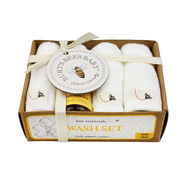 Burt's Bees Baby Organic Washcloth Gift Box, Cloud, 100% GOTS Certified Organic Cotton By Burts Bees Baby Ship... by Burts Bees Baby