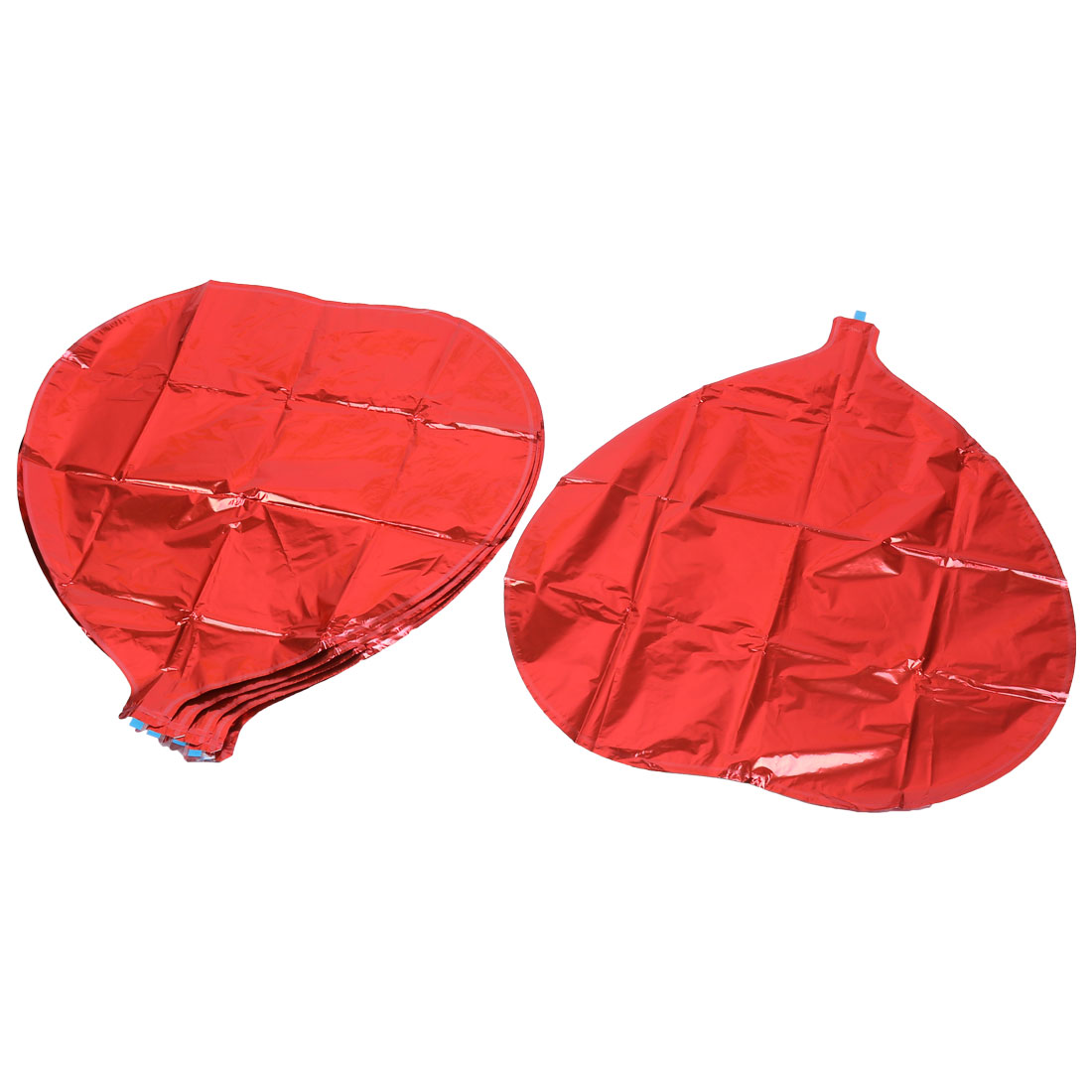 Christmas Wedding Party Decor Heart Shaped Aluminum Foil Balloons Red 6 PCS
