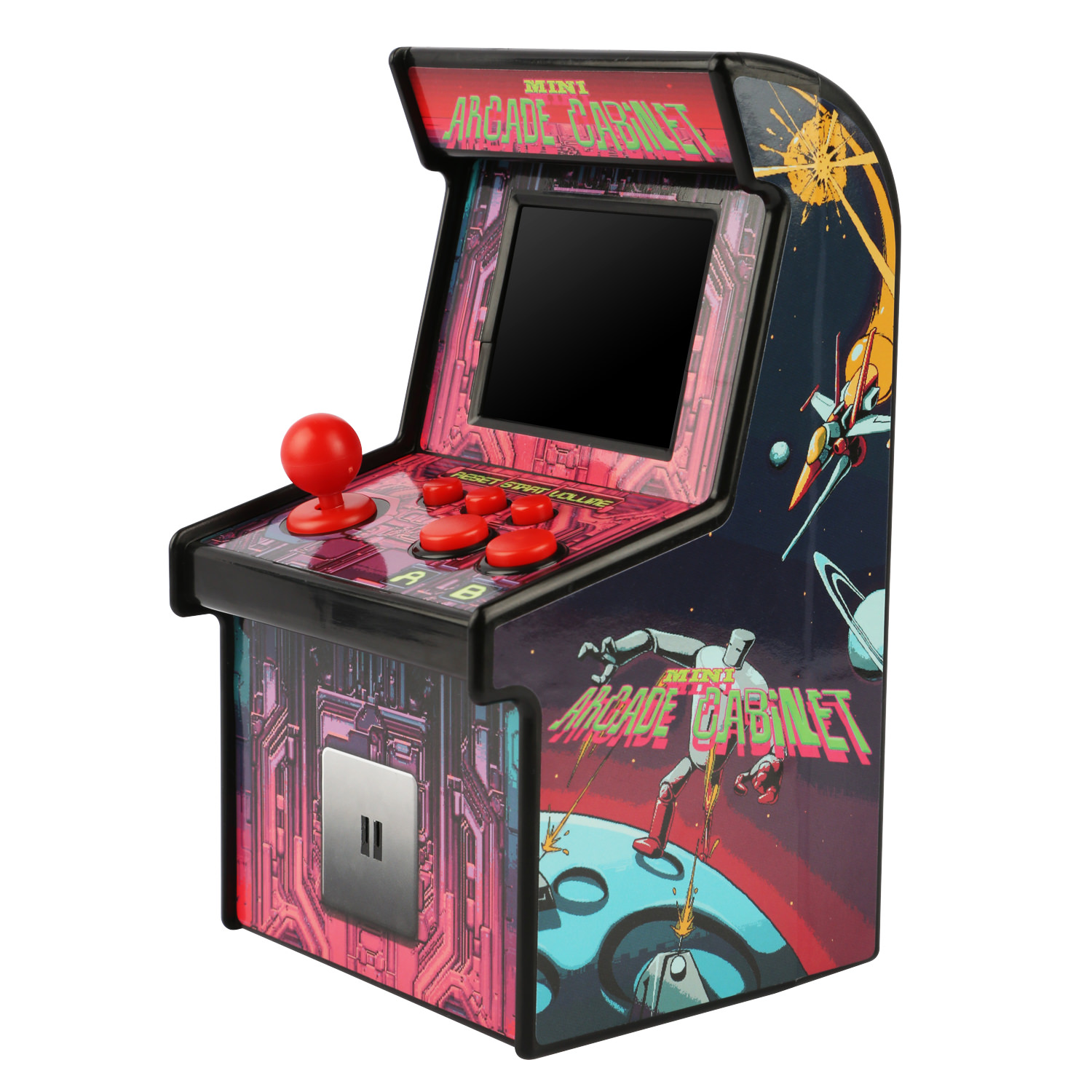 7d9356f8c763 Portable Mini 200-Game 16-Bit Retro Arcade Cabinet - Walmart.com