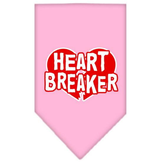 Heart Breaker Screen Print Bandana Light Pink Small