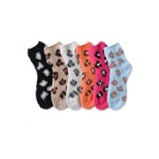 Women's Leopard Print Plush Soft Fuzzy Socks