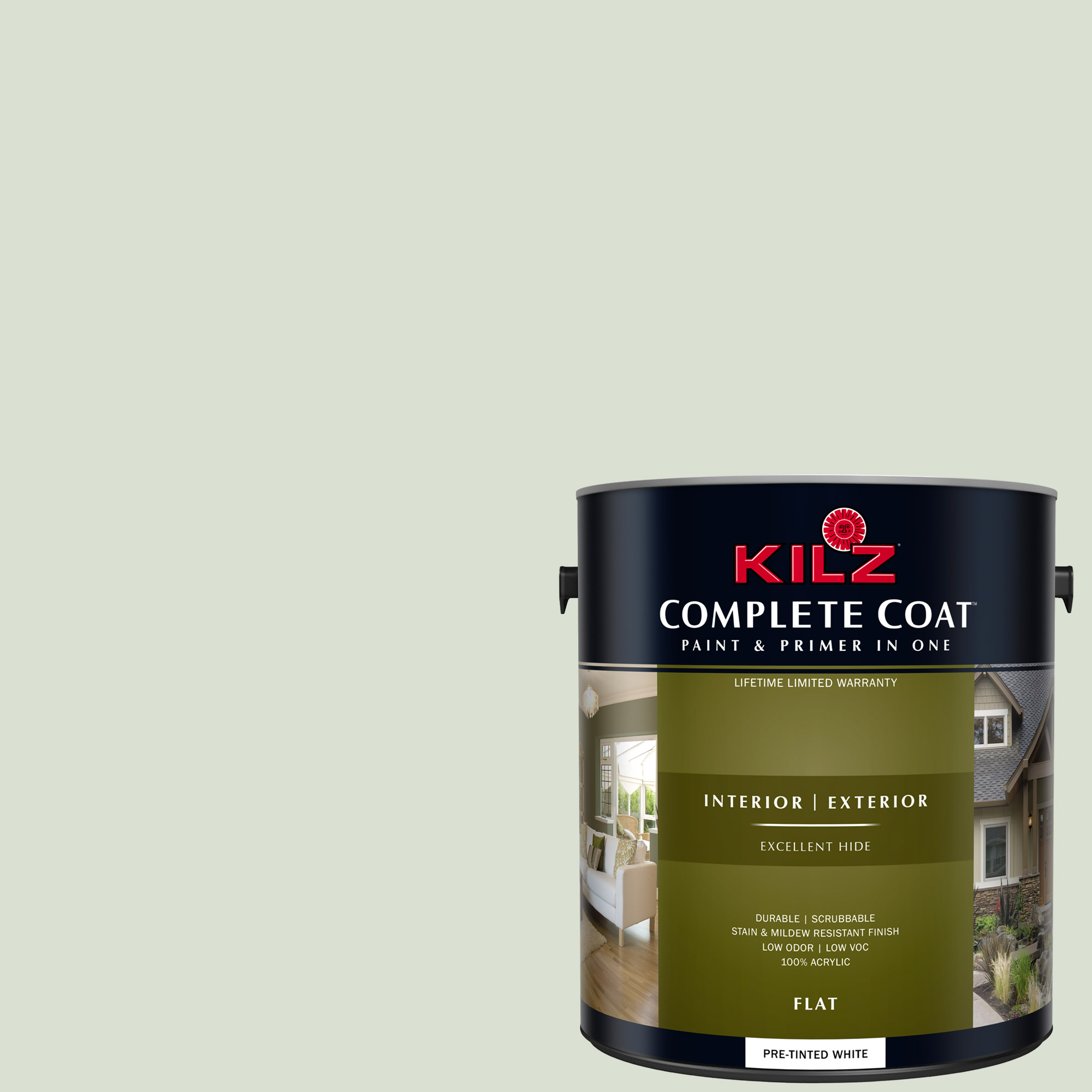 KILZ COMPLETE COAT Interior/Exterior Paint & Primer in One #LG190-02 Celadon Vase
