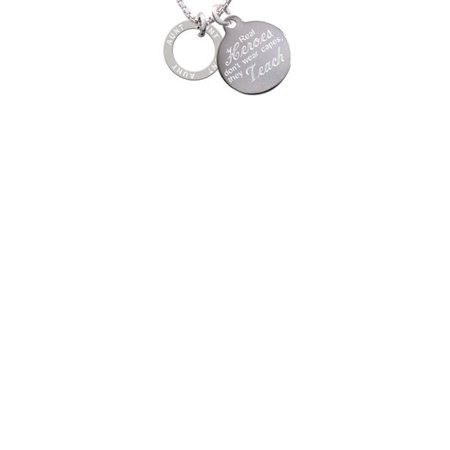 Aunt Eternity Ring Real Heroes Don't Wear Capes They Teach Engraved Necklace (Real Silver Dollars)