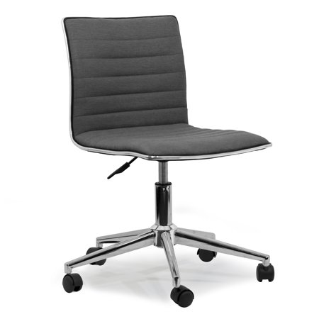 Aiko Grey Fabric Swivel Office Chair with Wheel Base ...