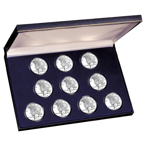 American Coin Treasures Peace Silver Dollar Collection Display Box