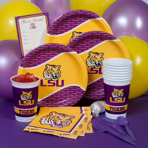 LSU Collegiate Party Pack for 8