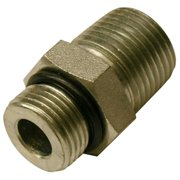 Apache 39038856 .37 in. Male O-Ring Boss x .37 in. Male Pipe, Hydraulic Adapter