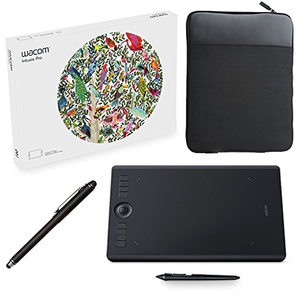 Wacom Intuos Pro Digital Graphic Drawing Tablet For Mac Or Pc, Medium,  (Pth660) New Model, Ritz Camera Tablet Case 16x10, Zink Stylus and  Accessory