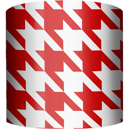 "10"" Drum Lamp Shade, Red and White Houndstooth"