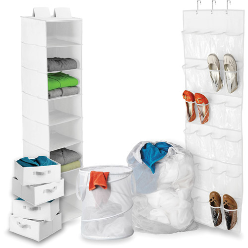 Honey-Can-Do Back To School Home Organization Kit, White