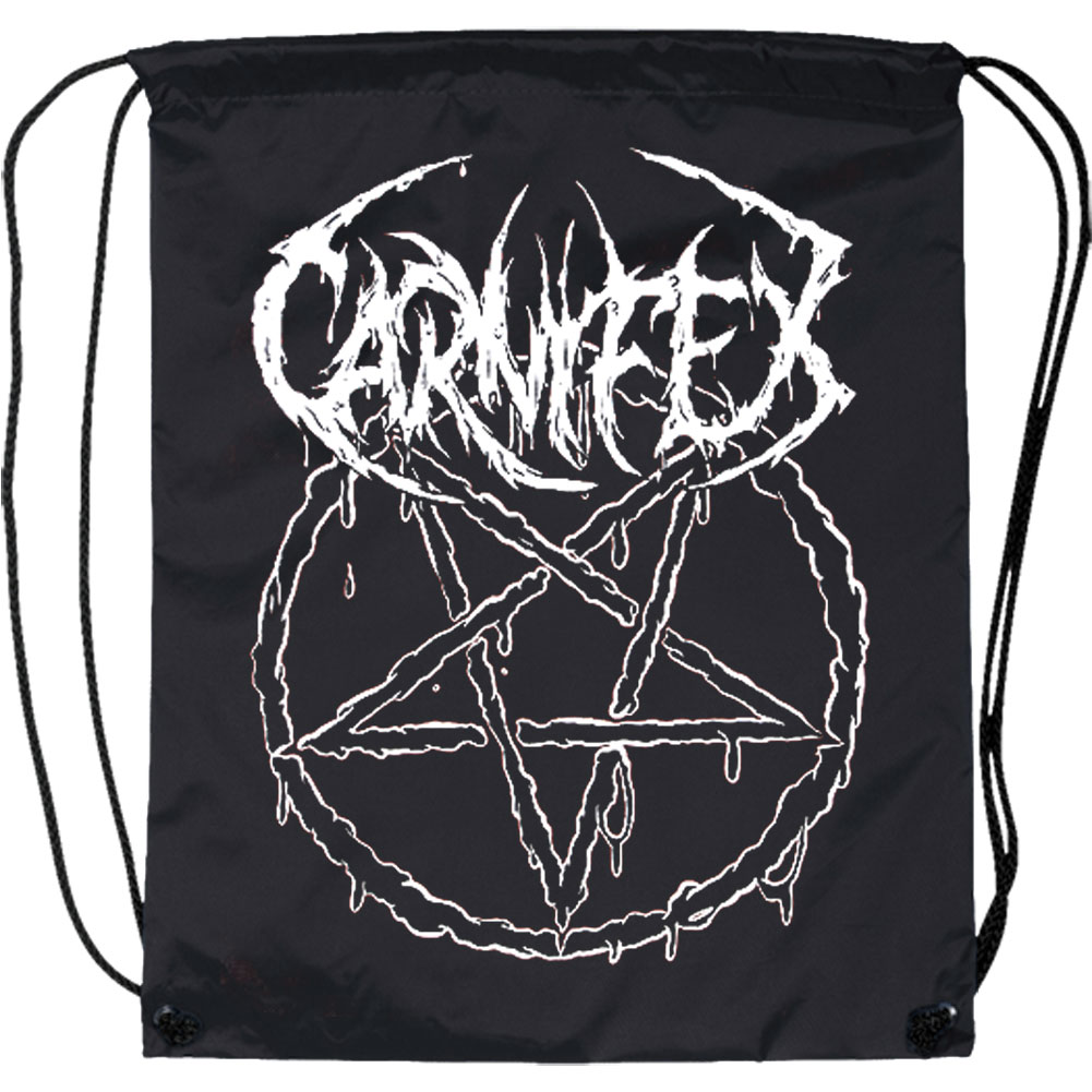 Carnifex Pentagram Drawstring Backpack Black