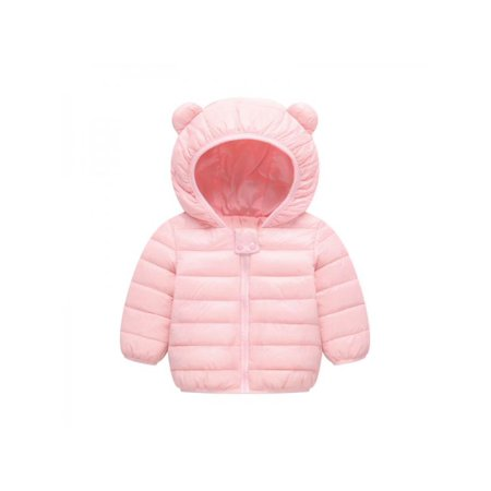 Nicesee Infants Toddler Baby Winter Coats Girls Boys Lightweight Down Jacket Hooded Outwear