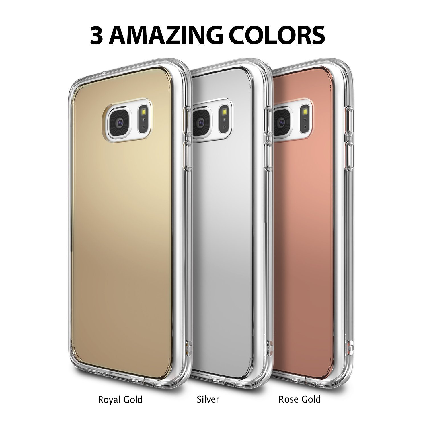 newest f8340 8775e Ringke MIRROR Case for Samsung Galaxy S7 Edge - Silver