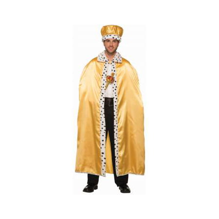 Adult Gold Royal Halloween Costume Cape