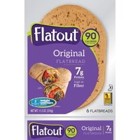 Flatout Flatbread Light Wraps, 6 Wraps (Original)