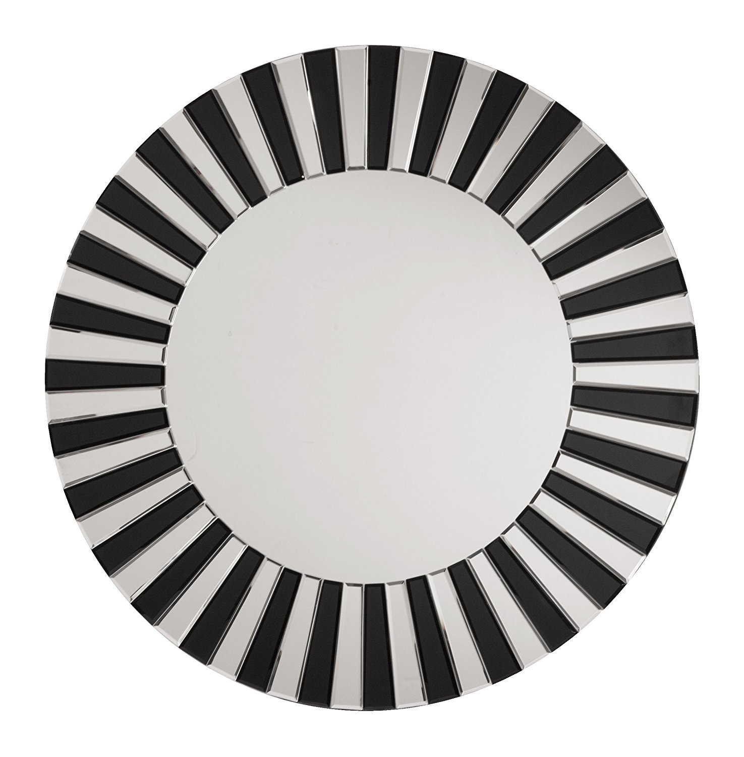 OSP Designs The Jazz Note Round Wall Decor with Glass, Mirror/Black